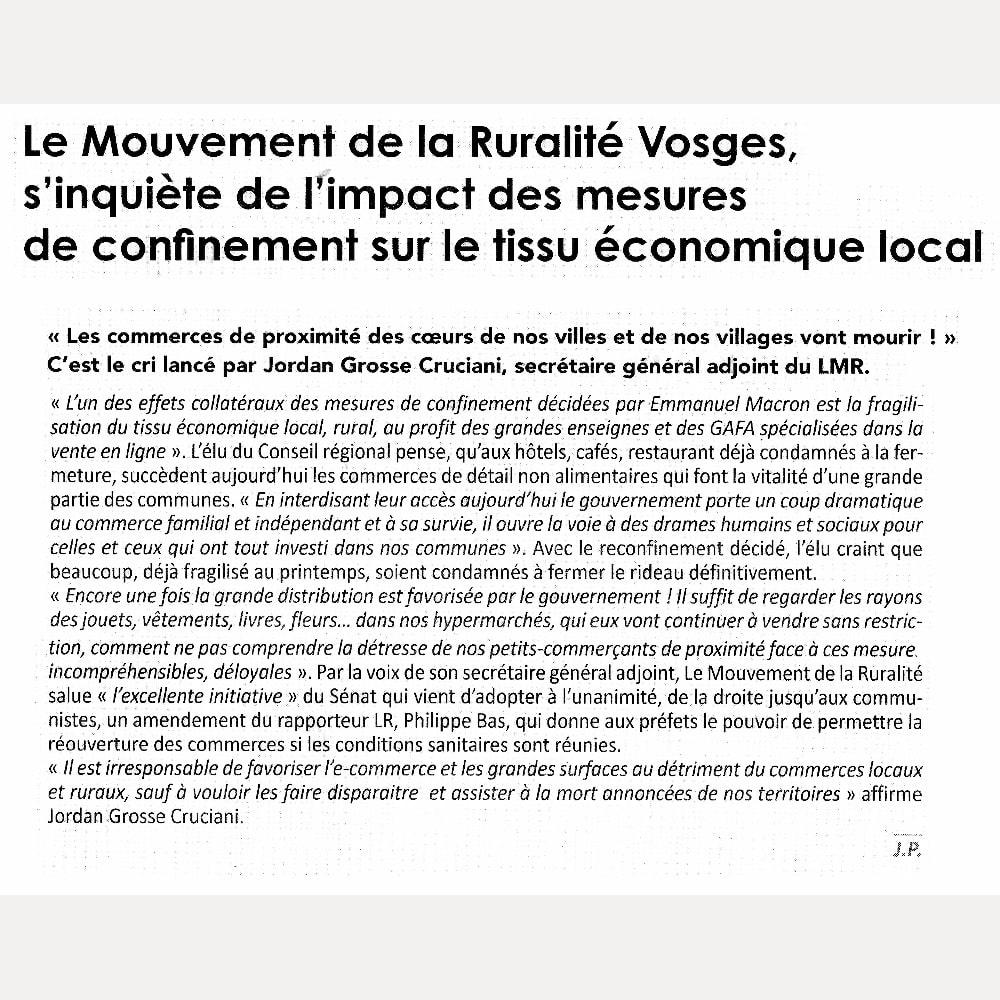 Article Echo des Vosges
