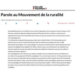 Article Nouvelle République du 41